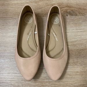SO Hitide Women's Pointed Toe Flats- 9.5